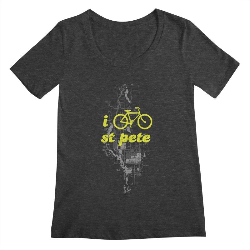 I Bike St. Pete Women's Scoopneck by I Love the Burg Swag