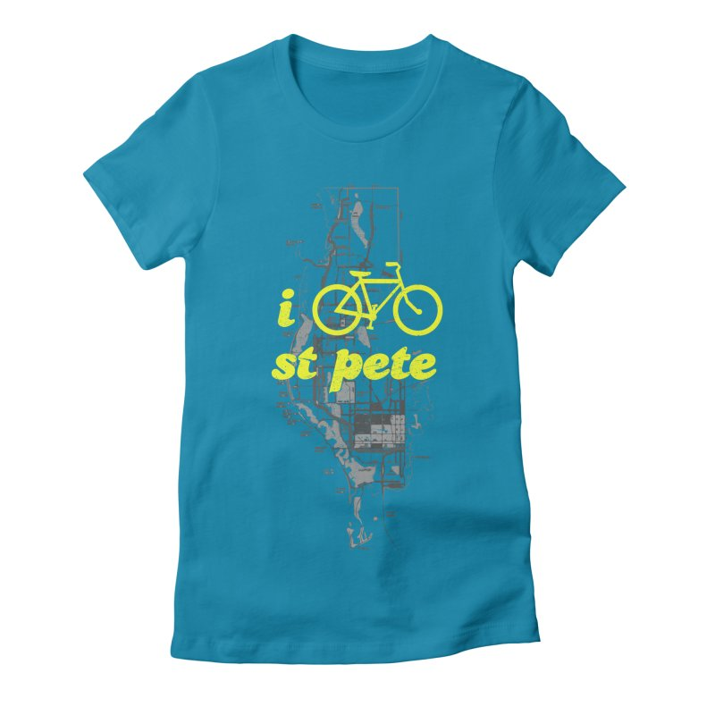 I Bike St. Pete Women's Fitted T-Shirt by I Love the Burg Swag