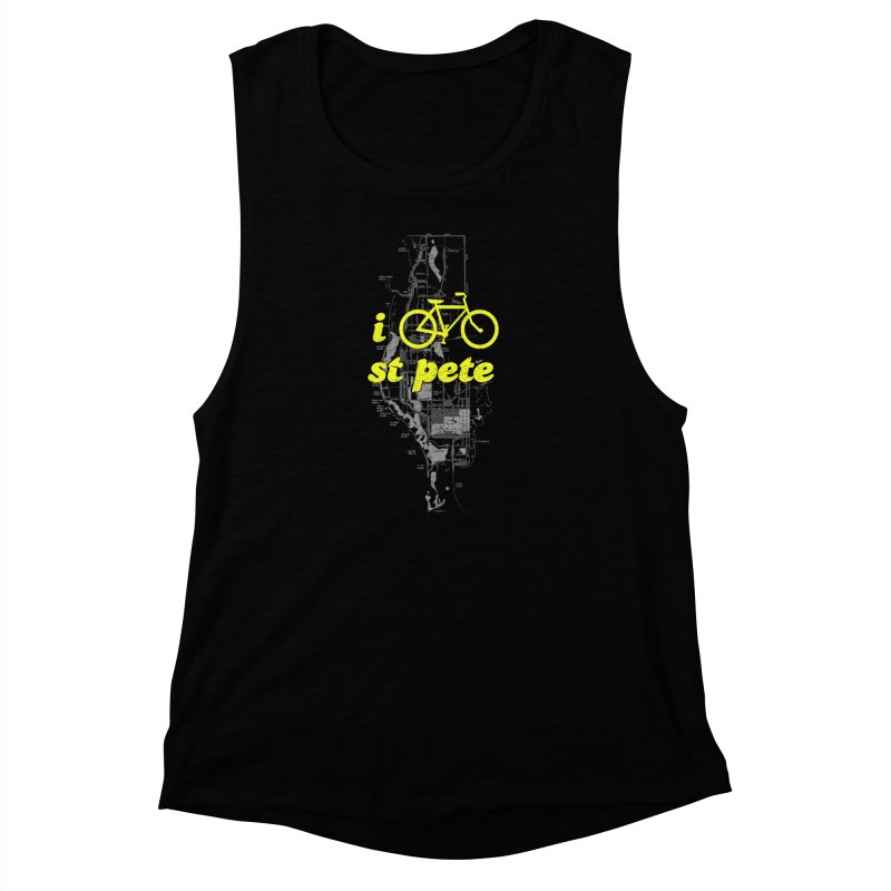 I Bike St. Pete Women's Muscle Tank by I Love the Burg Swag
