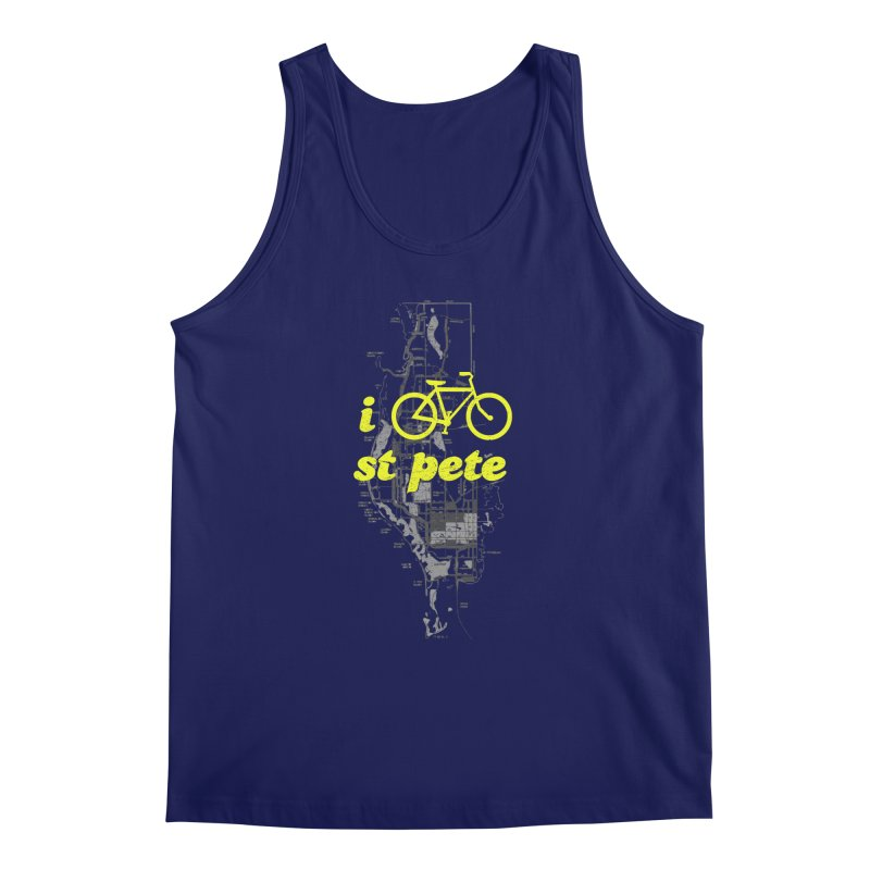 I Bike St. Pete Men's Regular Tank by I Love the Burg Swag
