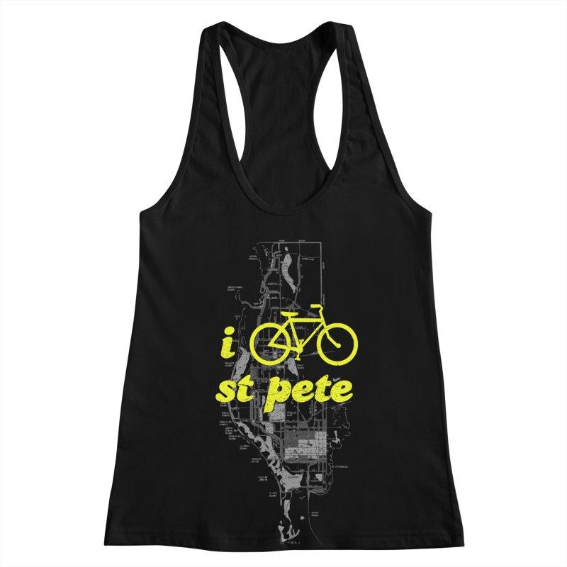 I Bike St. Pete Women's Racerback Tank by I Love the Burg Swag