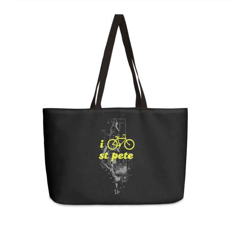 I Bike St. Pete Accessories Weekender Bag Bag by I Love the Burg Swag