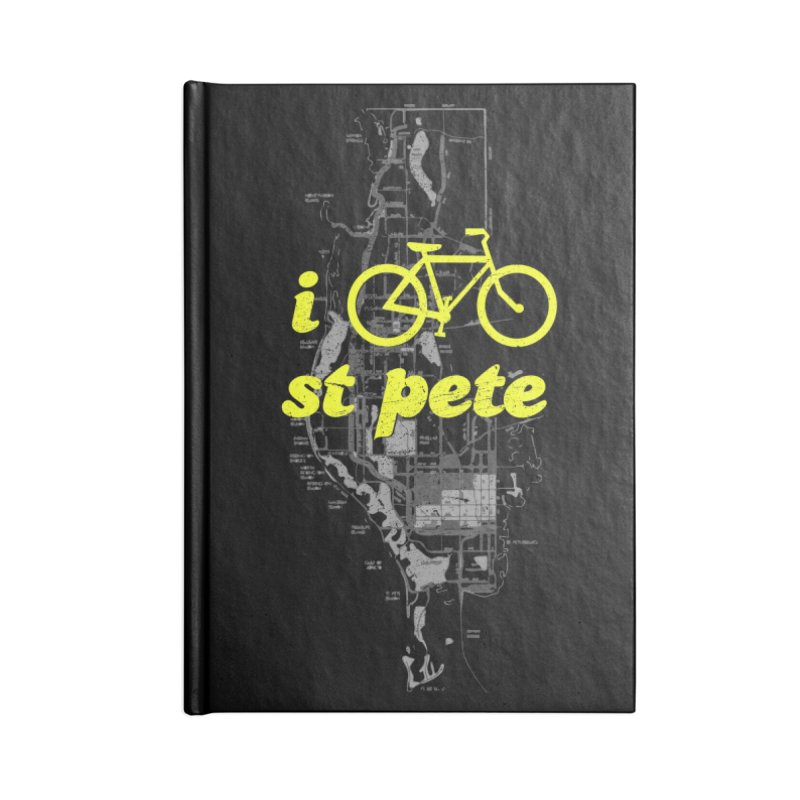 I Bike St. Pete Accessories Lined Journal Notebook by I Love the Burg Swag