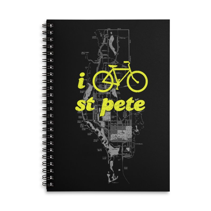 I Bike St. Pete Accessories Lined Spiral Notebook by I Love the Burg Swag
