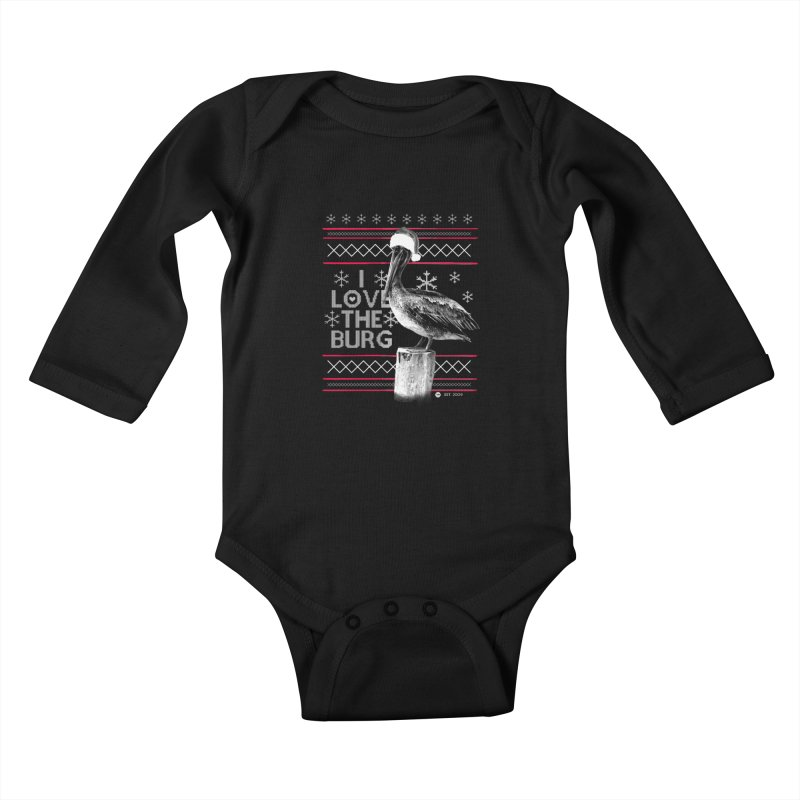 The St. Pete Ugly Sweater Kids Baby Longsleeve Bodysuit by I Love the Burg Swag