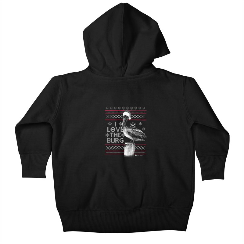 The St. Pete Ugly Sweater Kids Baby Zip-Up Hoody by I Love the Burg Swag