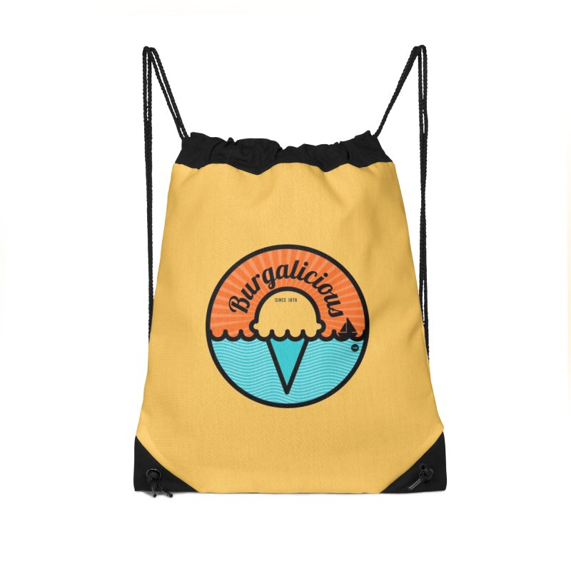 Burgalicious Accessories Drawstring Bag Bag by I Love the Burg Swag