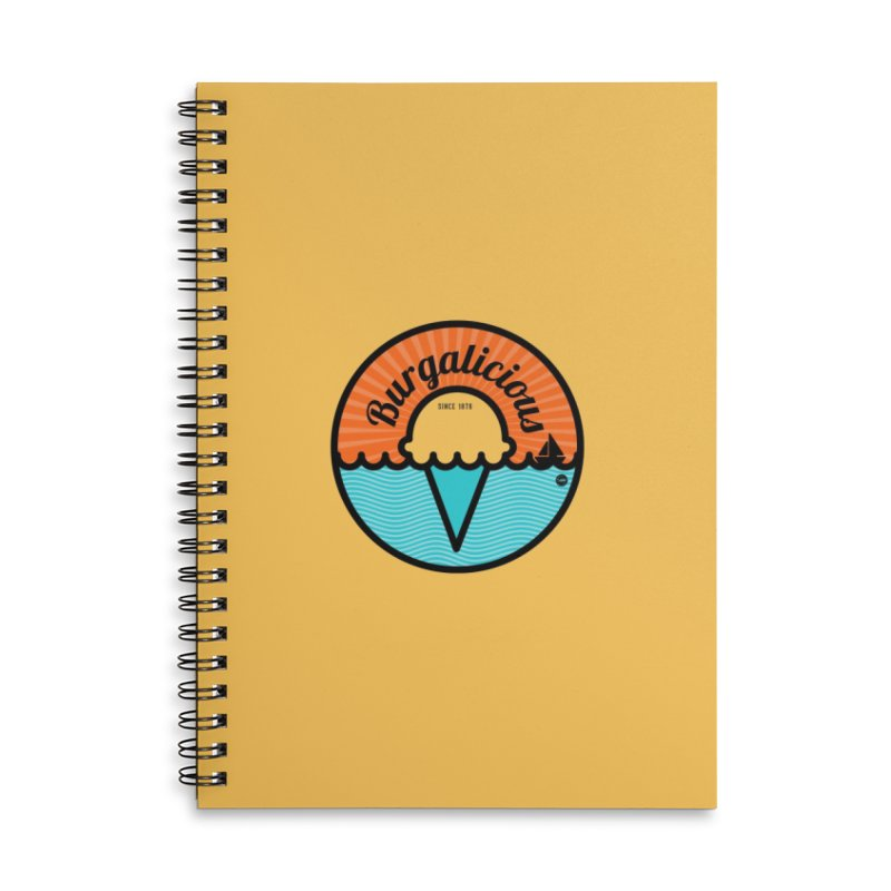 Burgalicious Accessories Lined Spiral Notebook by I Love the Burg Swag