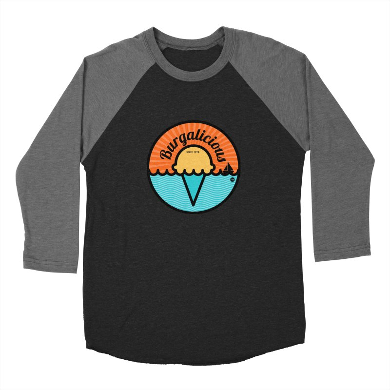 Burgalicious Women's Baseball Triblend Longsleeve T-Shirt by I Love the Burg Swag