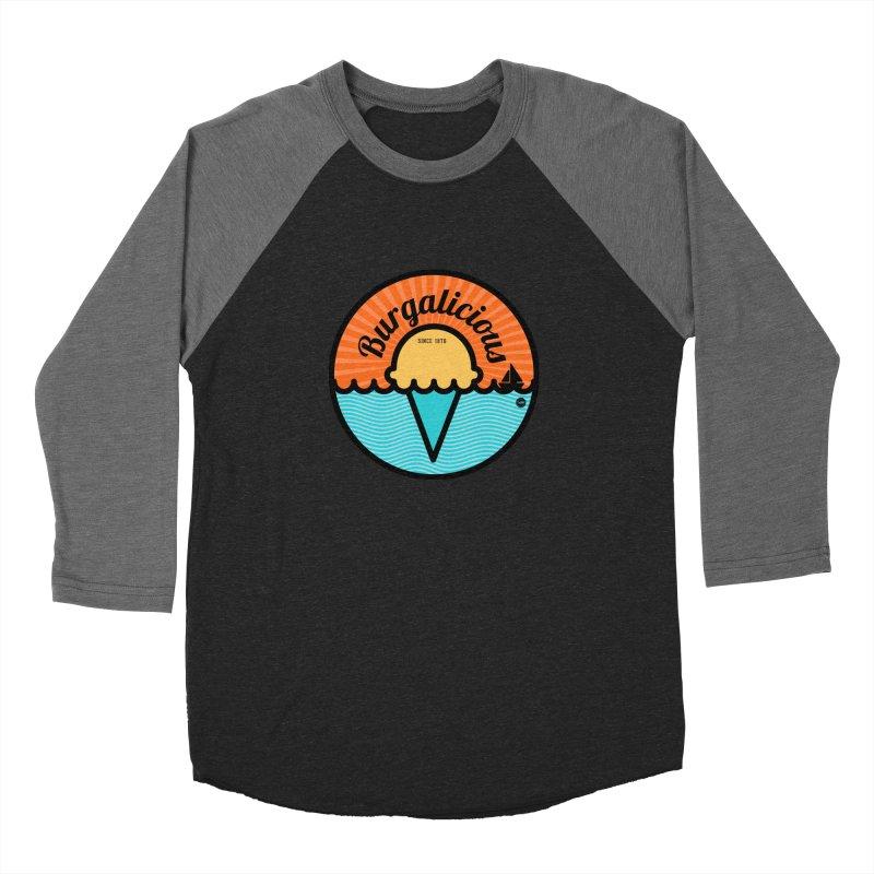 Burgalicious Men's Baseball Triblend T-Shirt by I Love the Burg Swag