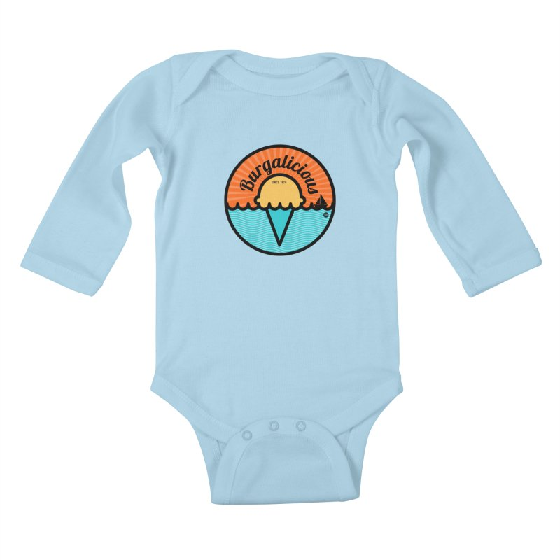 Burgalicious Kids Baby Longsleeve Bodysuit by I Love the Burg Swag