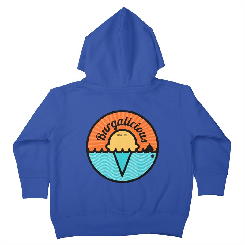 Burgalicious Kids Toddler Zip-Up Hoody by I Love the Burg Swag
