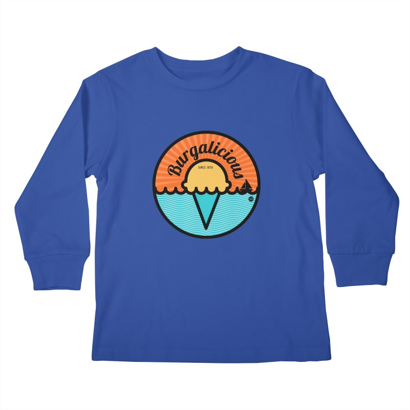 Burgalicious Kids Longsleeve T-Shirt by I Love the Burg Swag