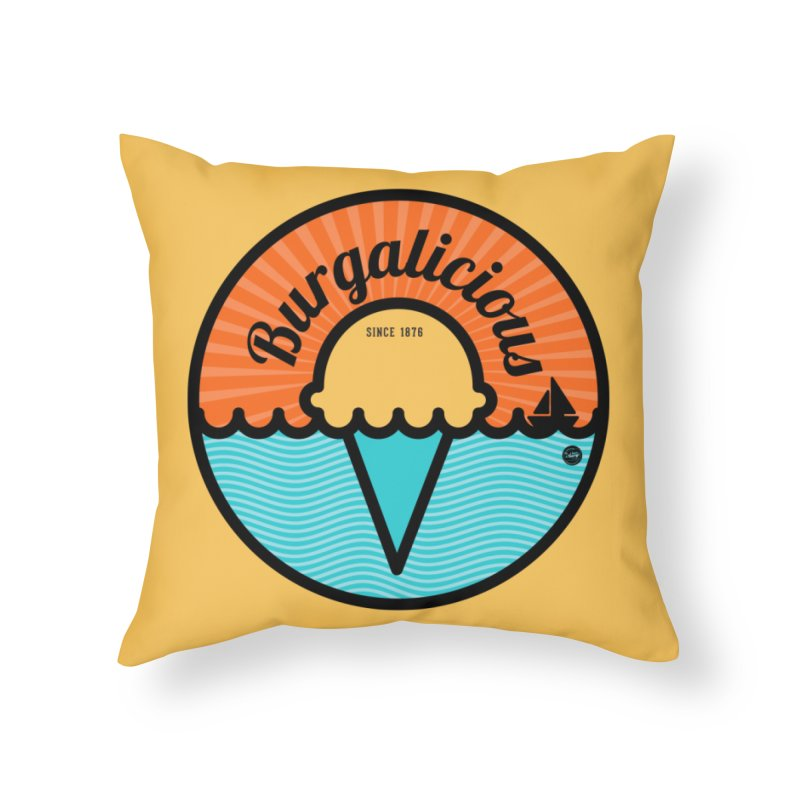 Burgalicious Home Throw Pillow by I Love the Burg Swag