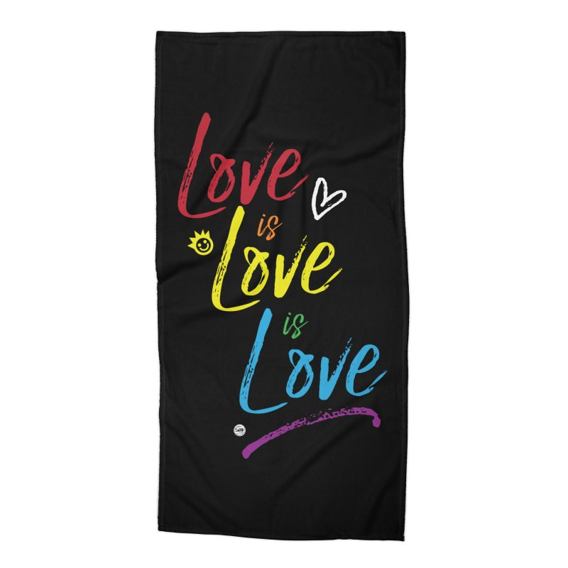 Love is Love is Love Accessories Beach Towel by I Love the Burg Swag