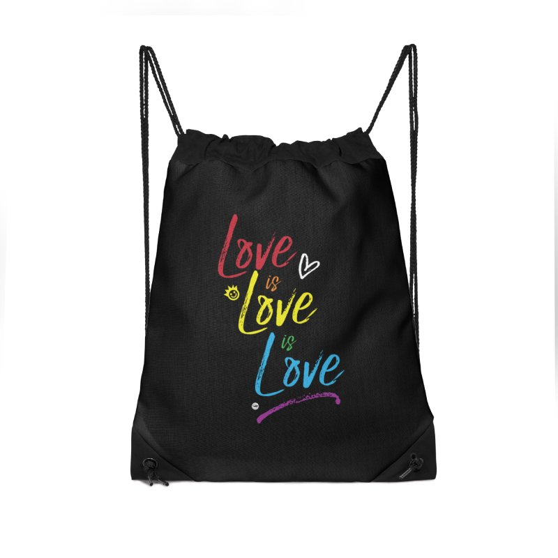 Love is Love is Love Accessories Drawstring Bag Bag by I Love the Burg Swag