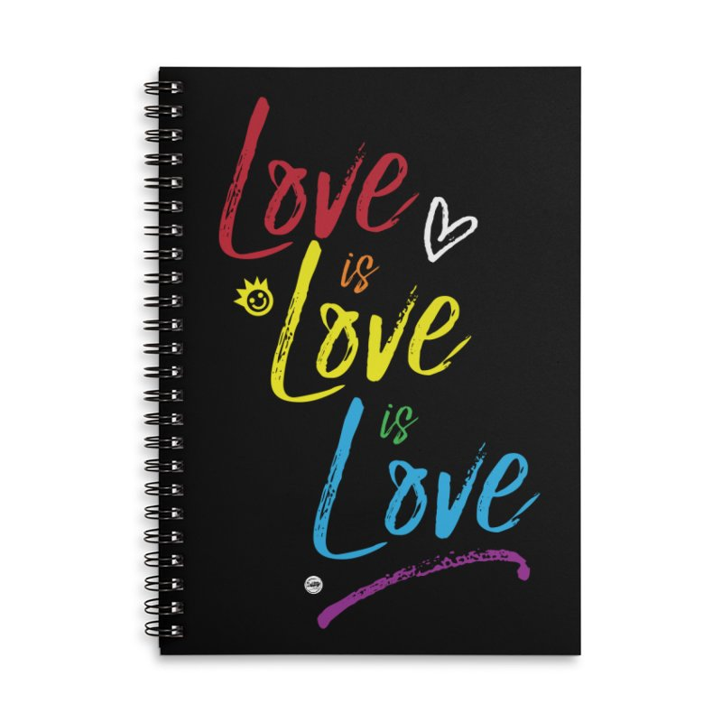 Love is Love is Love Accessories Lined Spiral Notebook by I Love the Burg Swag