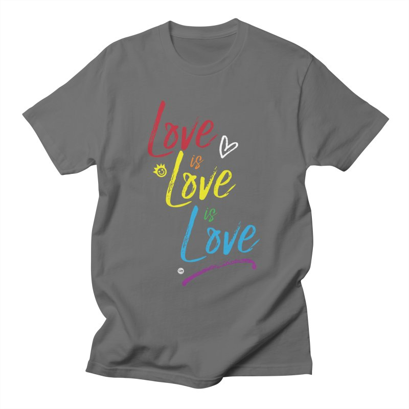 Love is Love is Love Loose Fit - All Gender T-Shirt by I Love the Burg Swag