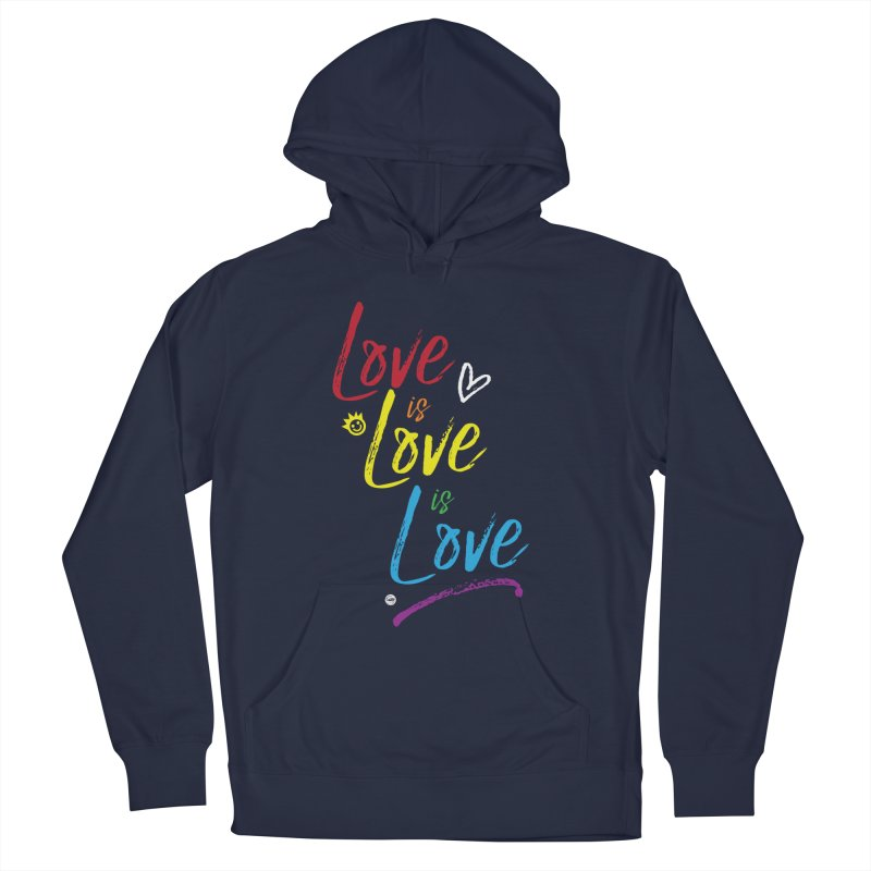 Love is Love is Love Men's Pullover Hoody by I Love the Burg Swag