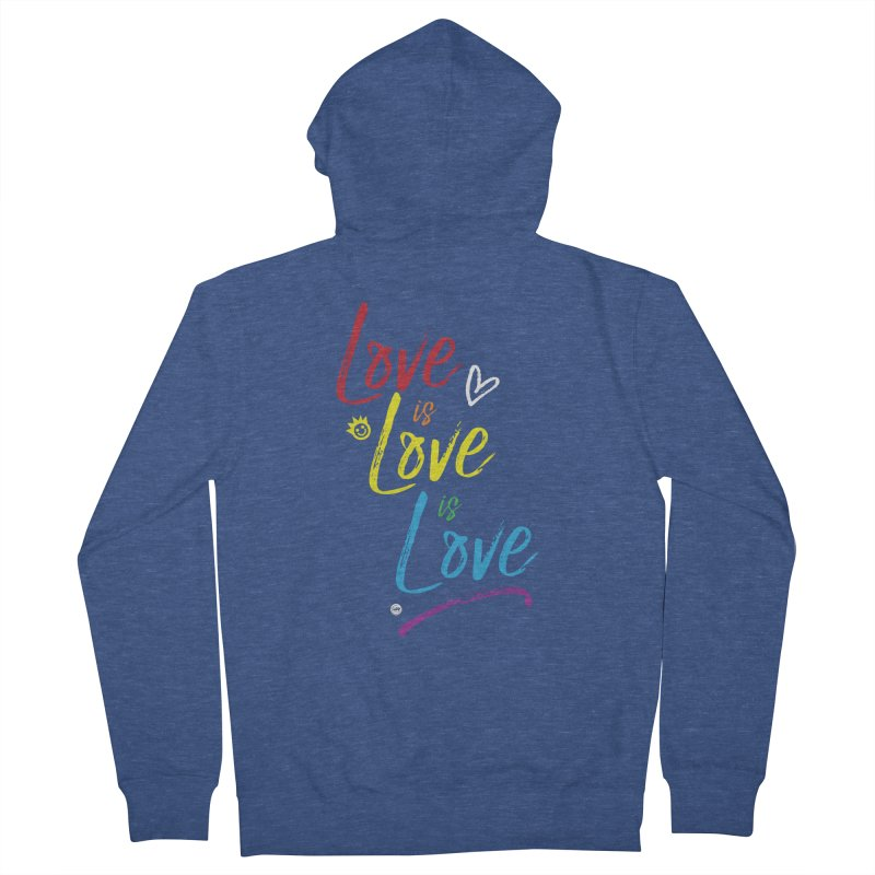 Love is Love is Love Men's Zip-Up Hoody by I Love the Burg Swag