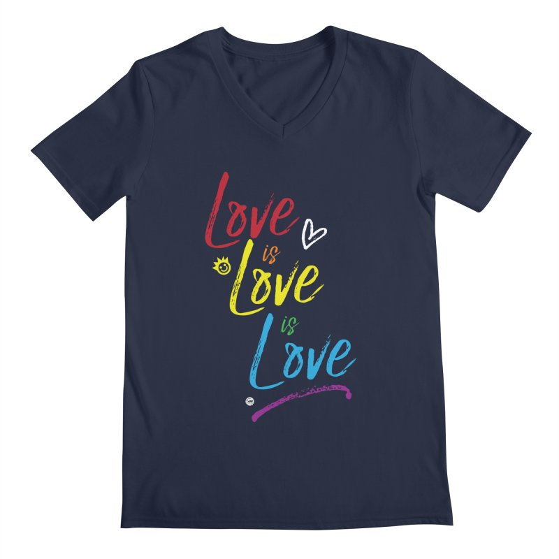 Love is Love is Love Men's V-Neck by I Love the Burg Swag
