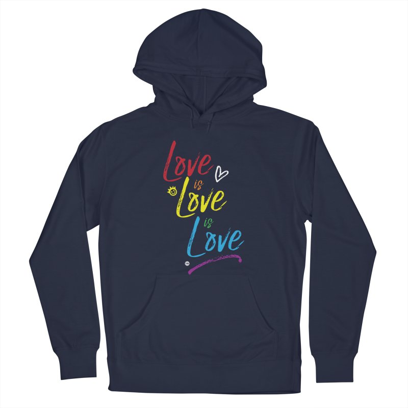 Love is Love is Love Women's French Terry Pullover Hoody by I Love the Burg Swag