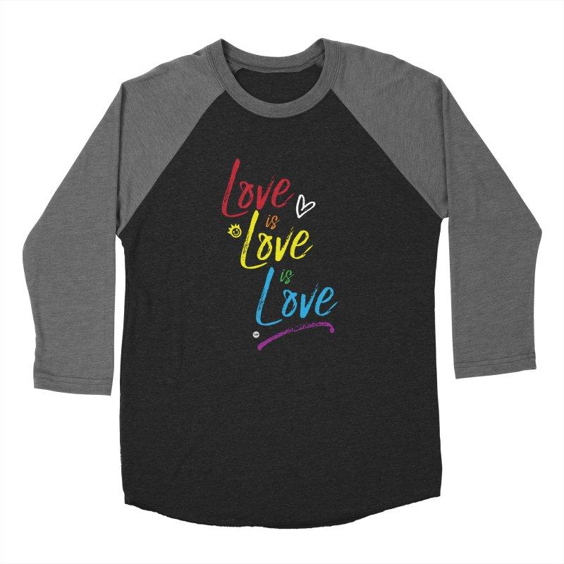 Love is Love is Love Men's Baseball Triblend Longsleeve T-Shirt by I Love the Burg Swag