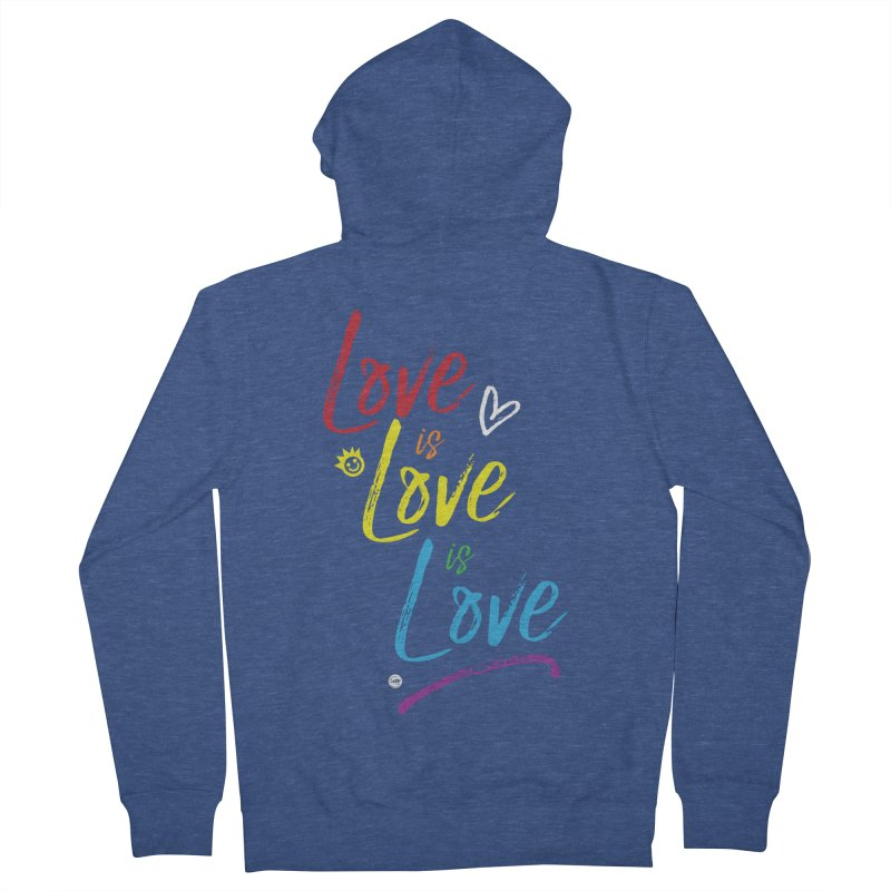 Love is Love is Love Women's French Terry Zip-Up Hoody by I Love the Burg Swag