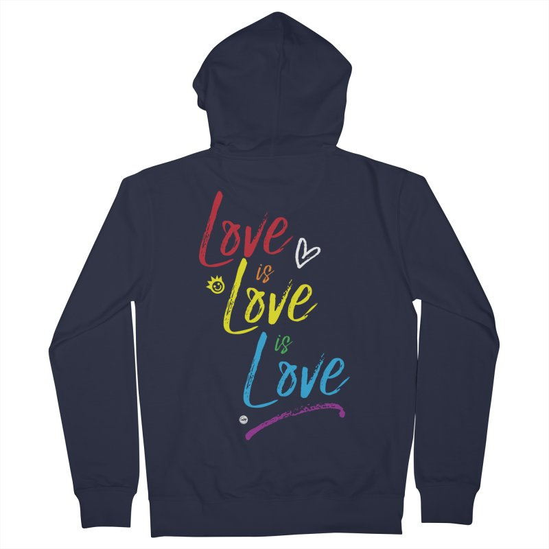 Love is Love is Love Women's Zip-Up Hoody by I Love the Burg Swag