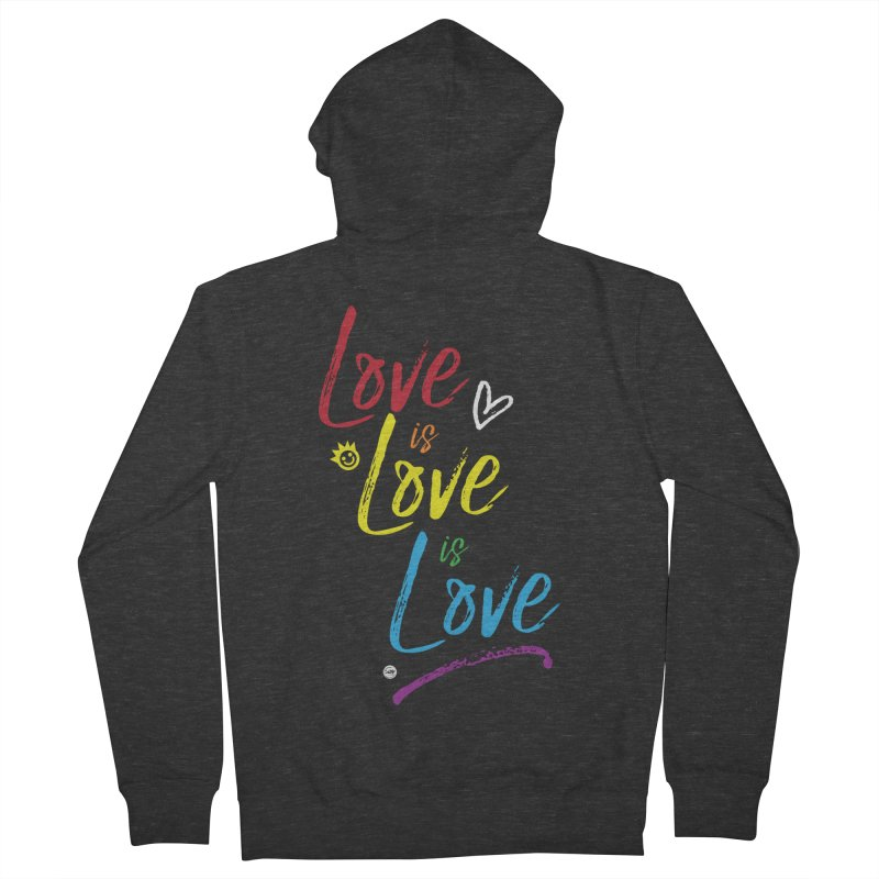 Love is Love is Love Men's Zip-Up Hoody by I Love the Burg Swag