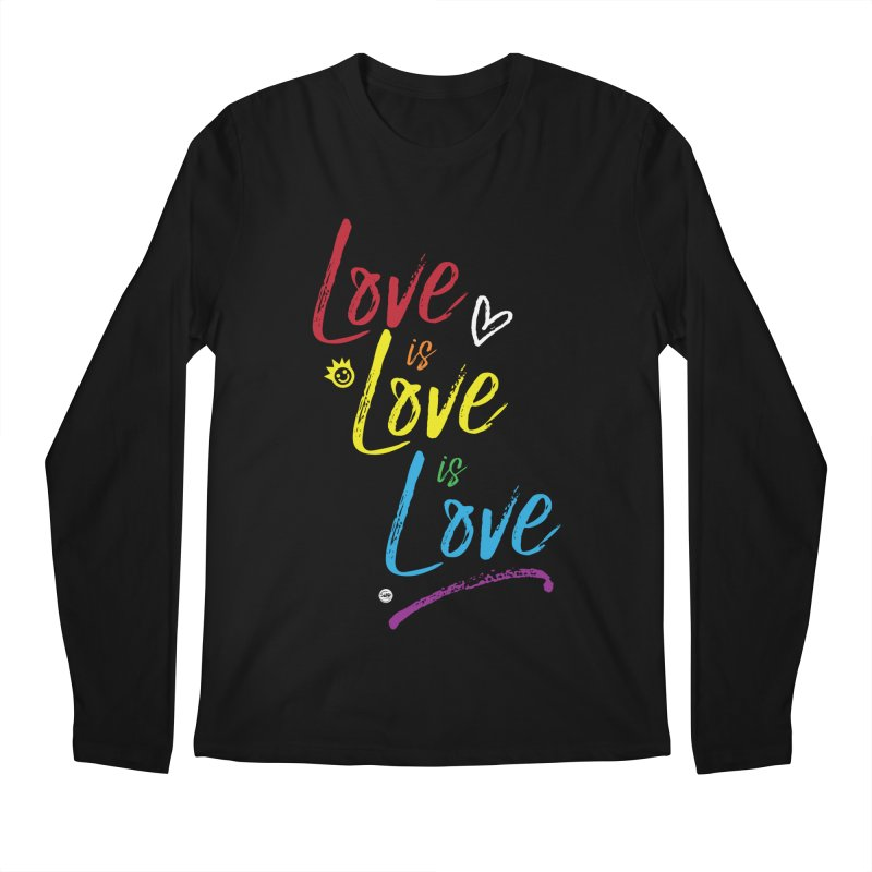 Love is Love is Love Men's Regular Longsleeve T-Shirt by I Love the Burg Swag