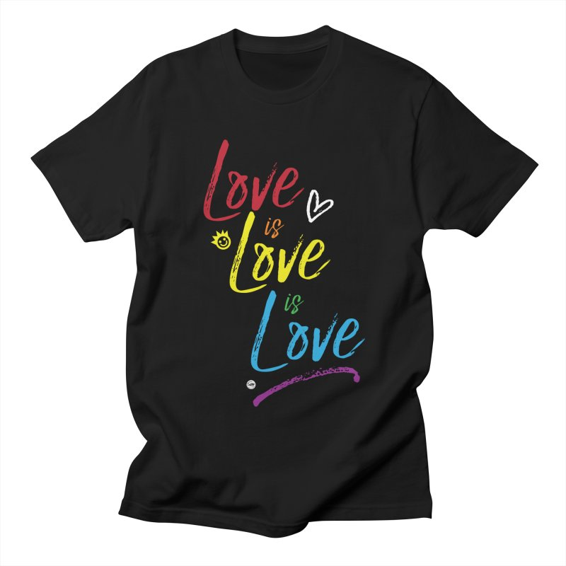 Love is Love is Love Women's Regular Unisex T-Shirt by I Love the Burg Swag