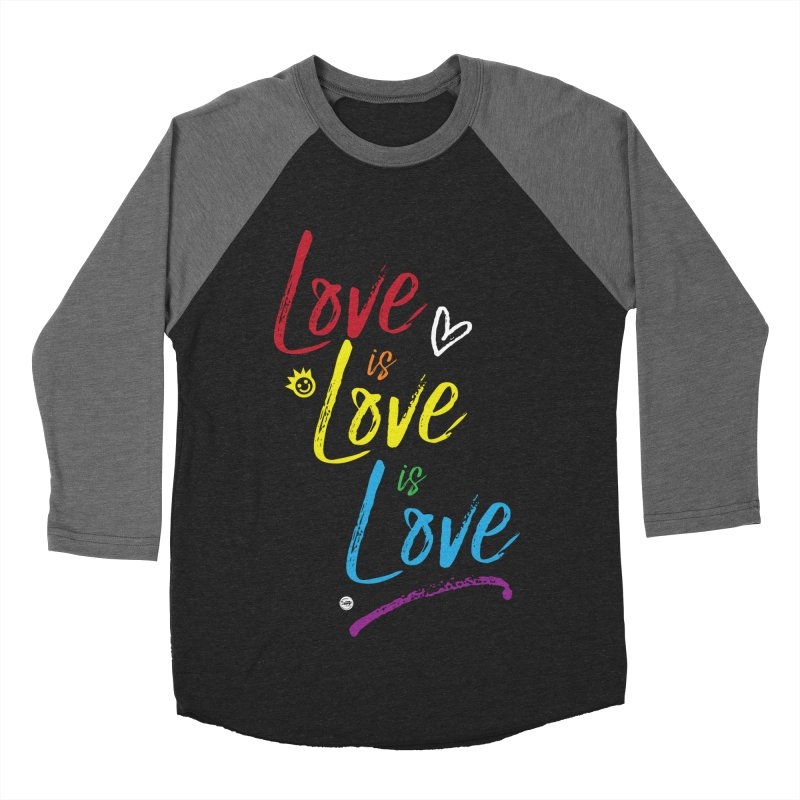 Love is Love is Love Men's Baseball Triblend T-Shirt by I Love the Burg Swag