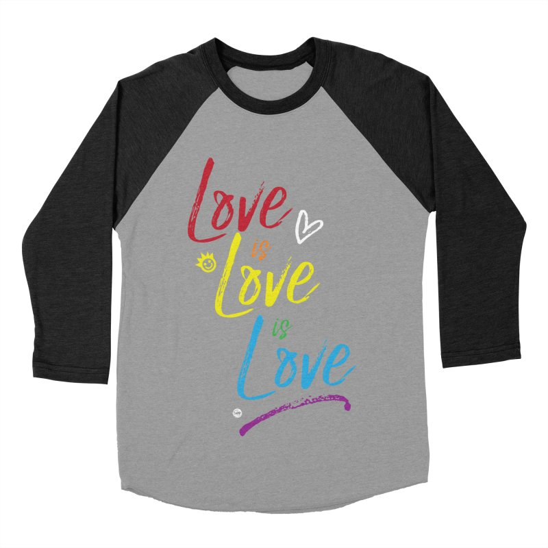 Love is Love is Love Men's Baseball Triblend Longsleeve T-Shirt by I Love the Burg Swag
