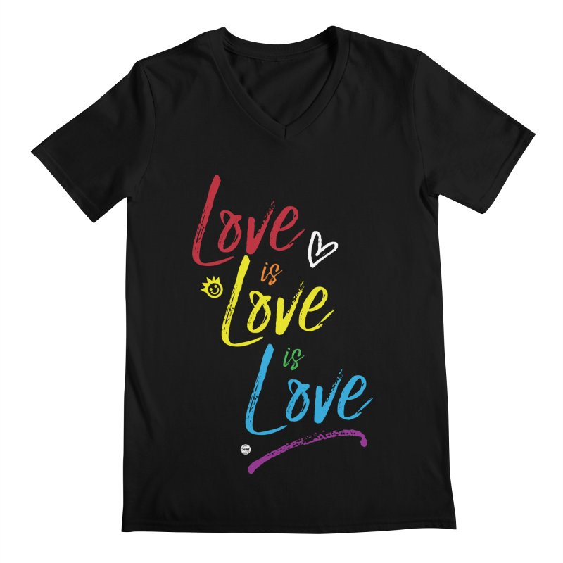 Love is Love is Love Men's Regular V-Neck by I Love the Burg Swag