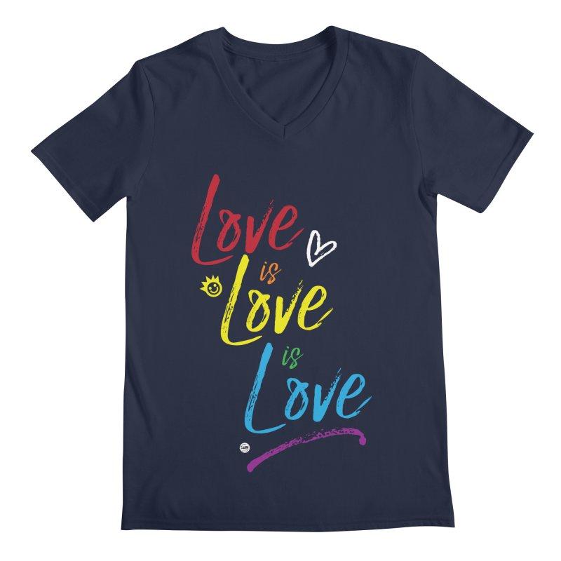 Love is Love is Love Men's Regular V-Neck by I Love the Burg Swag