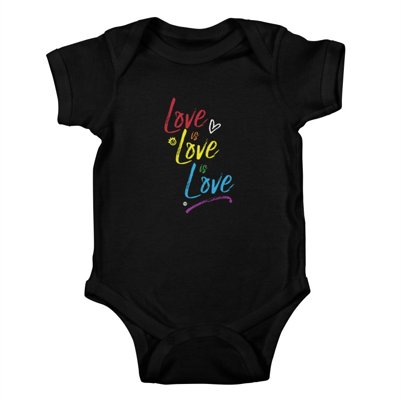 Love is Love is Love Kids Baby Bodysuit by I Love the Burg Swag