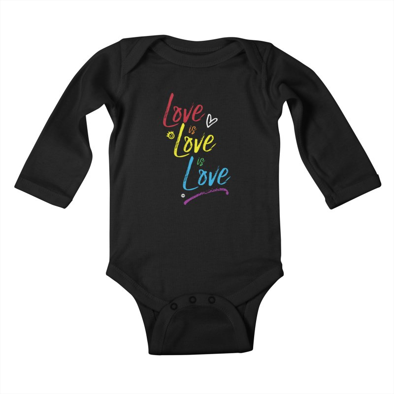 Love is Love is Love Kids Baby Longsleeve Bodysuit by I Love the Burg Swag