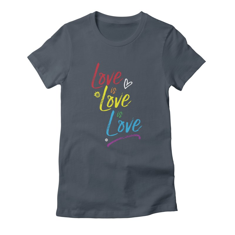Love is Love is Love Fitted - All Gender T-Shirt by I Love the Burg Swag