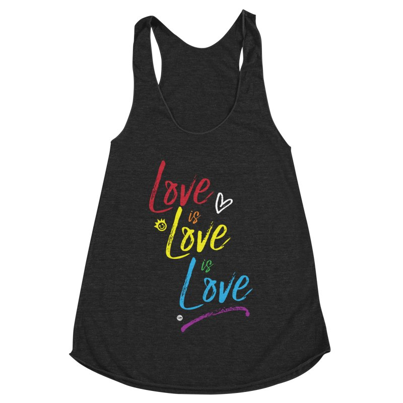 Love is Love is Love Women's Racerback Triblend Tank by I Love the Burg Swag