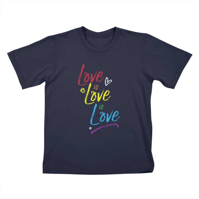 Love is Love is Love Kids T-Shirt by I Love the Burg Swag