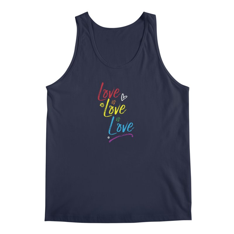 Love is Love is Love Men's Tank by I Love the Burg Swag
