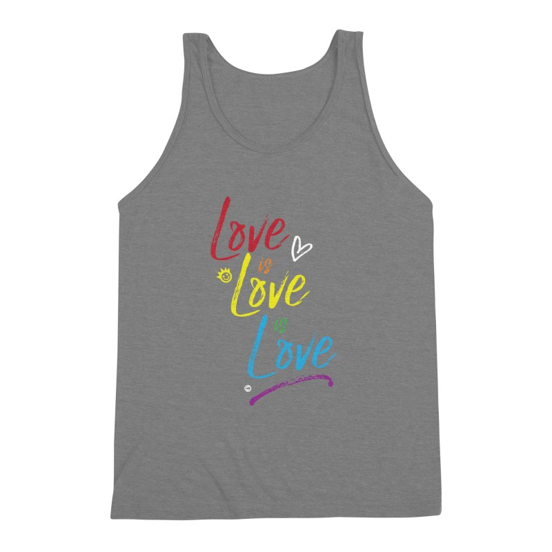 Love is Love is Love Men's Triblend Tank by I Love the Burg Swag