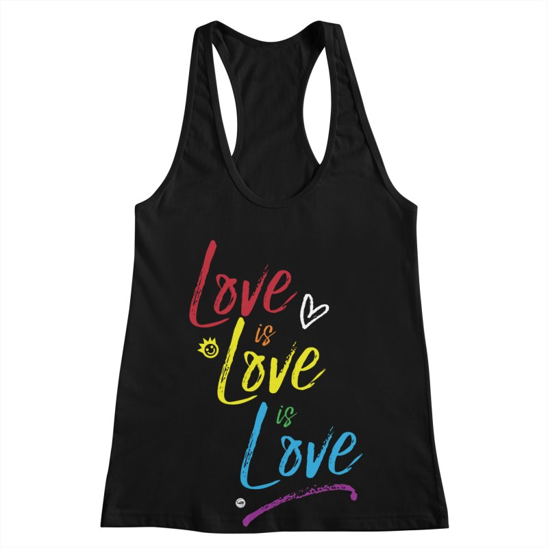 Love is Love is Love Women's Racerback Tank by I Love the Burg Swag