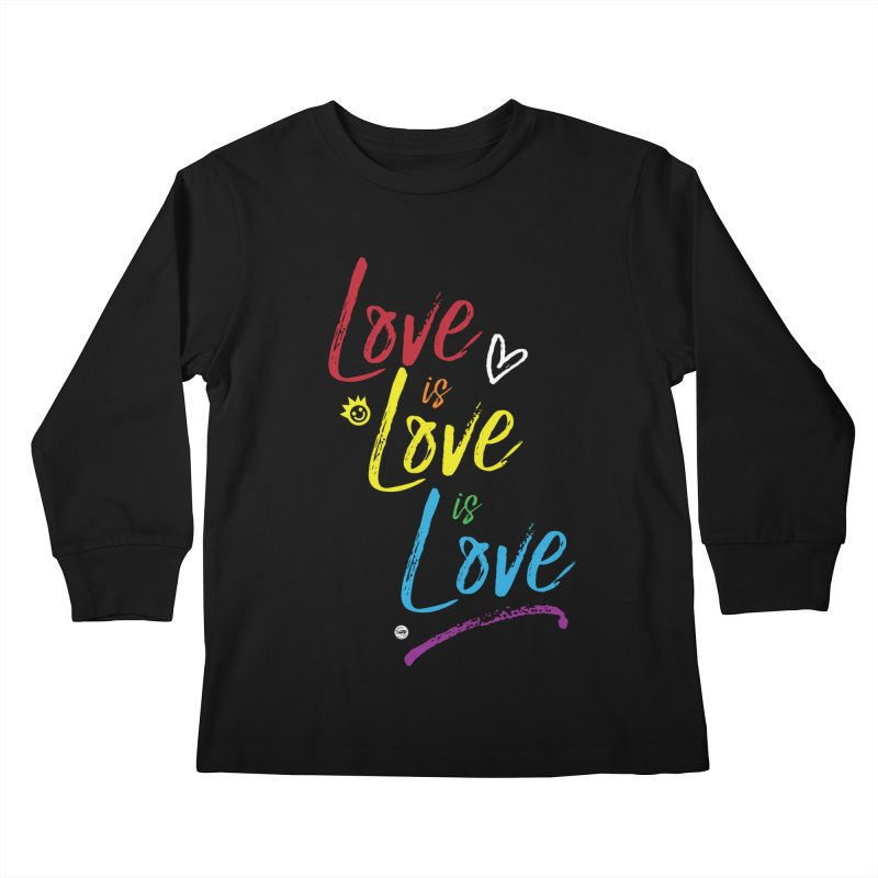 Love is Love is Love Kids Longsleeve T-Shirt by I Love the Burg Swag