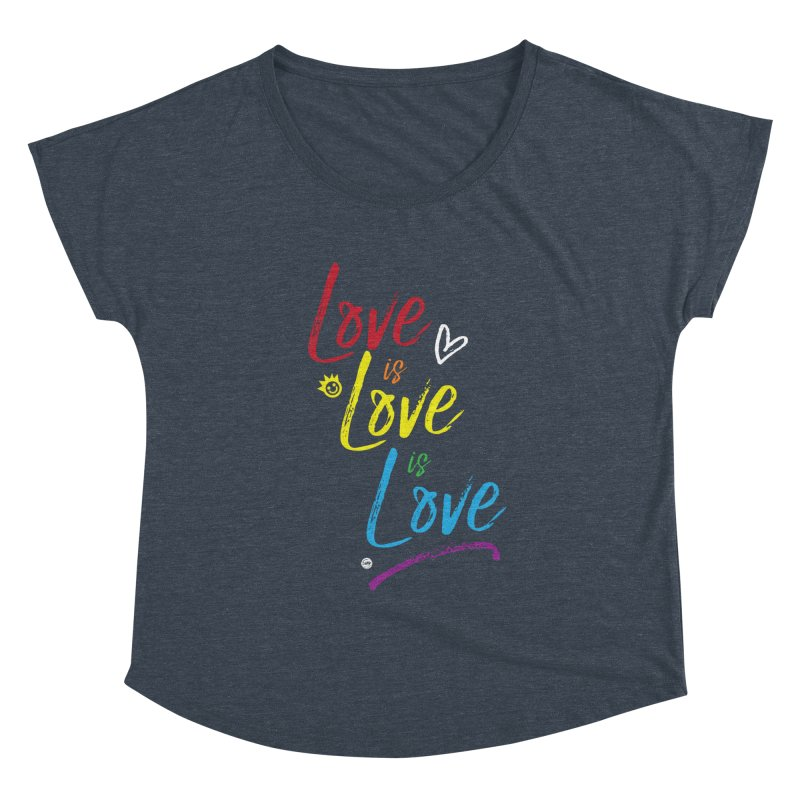 Love is Love is Love Women's Scoop Neck by I Love the Burg Swag
