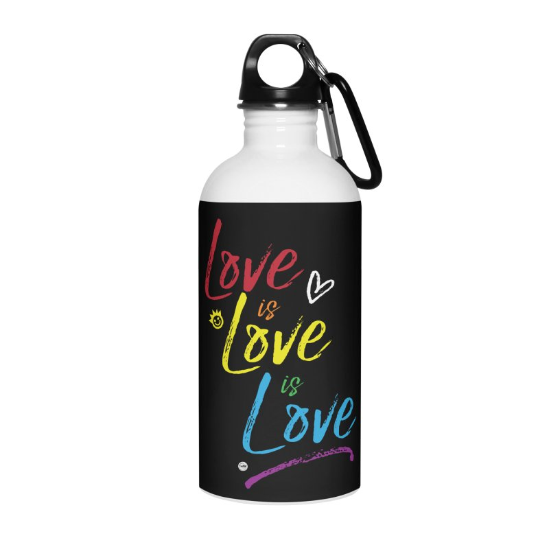 Love is Love is Love Accessories Water Bottle by I Love the Burg Swag