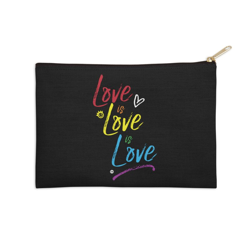 Love is Love is Love Accessories Zip Pouch by I Love the Burg Swag