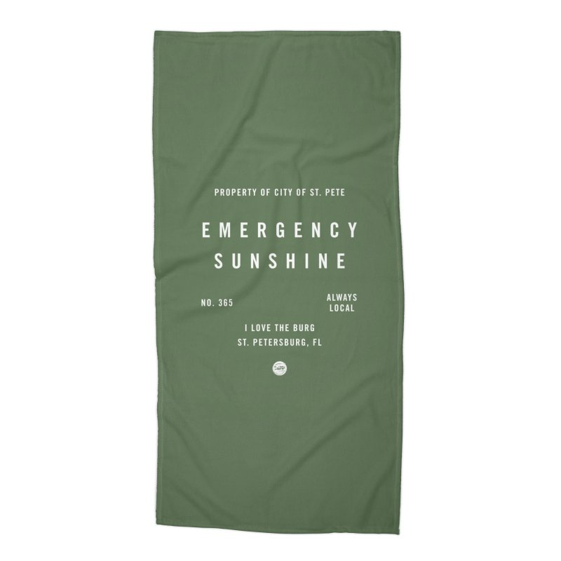 Emergency Sunshine Accessories Beach Towel by I Love the Burg Swag