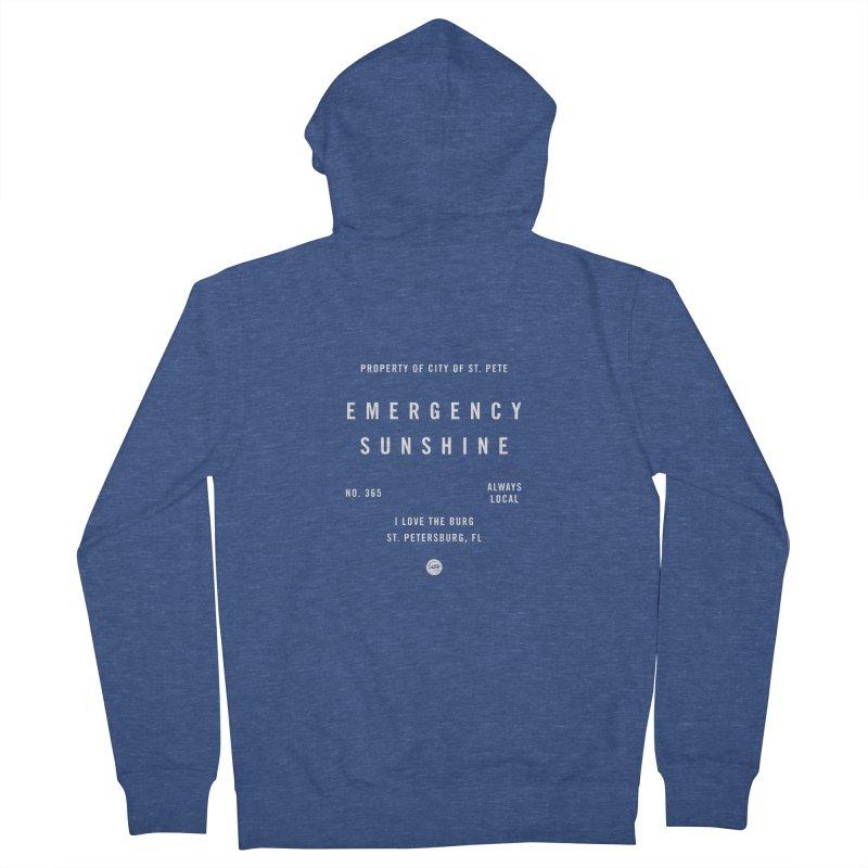 Emergency Sunshine Men's Zip-Up Hoody by I Love the Burg Swag